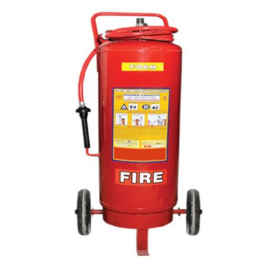 fire extinguisher trolley foam
